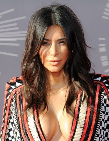 Kim Kardashian sexy big cleavage