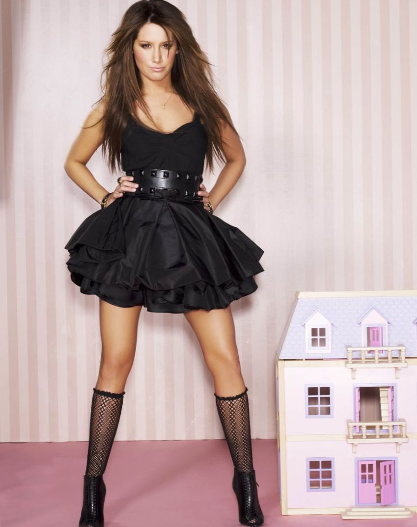 ashley-tisdale-in-black-dress-photoshoot-sexy