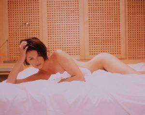 Actress Charlize Theron Lying Nude