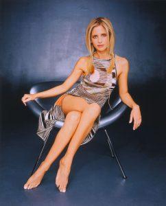 Sarah Michelle Gellar Wearing a Halter Dress
