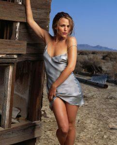 Actress Jennifer Garner in Desert