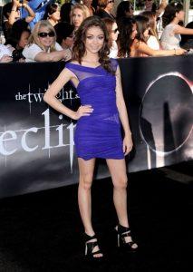 sarah-hyland-in-blue-mini-dress