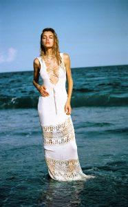 Joanna Halpin in sexy dress