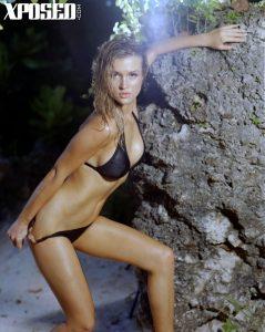 Joanna Krupa in black bikini