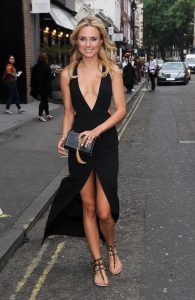 Kimberley Garner is seen at a fashion show at number 19 greek street in london