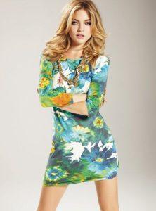 Martha Hunt in mini dress
